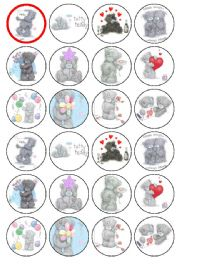 24 x Tatty Teddy Me to You Bears Edible Wafer Cup cake Top Toppers